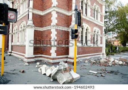 Christchurch Earthquake 2011 - New Zealand - stock photo