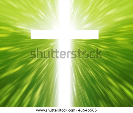 Christian church cross, religious spiritual symbol illustration - stock photo