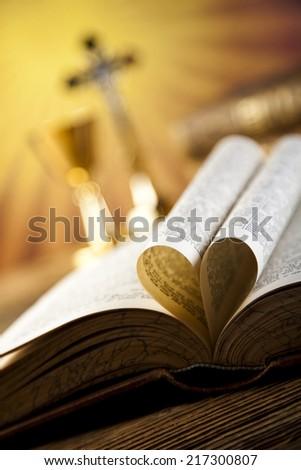 Christian holy communion  - stock photo