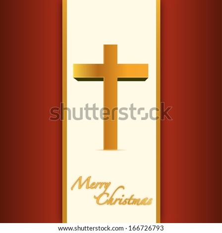 christian or catholic merry christmas card. illustration design - stock photo