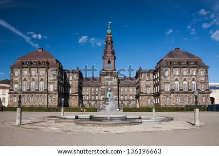 Christiansborg Palace, Copenhagen. - stock photo