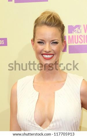 Christine Scott Bennett at the 2012 Video Music Awards Arrivals, Staples Center, Los Angeles, CA 09-06-12 - stock photo