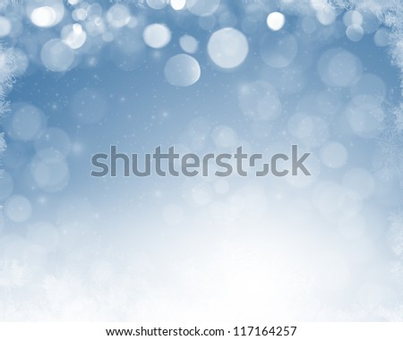 Christmas abstract blurred background - stock photo