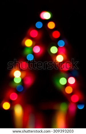 Christmas abstract lights - stock photo