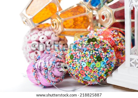 Christmas accessories - stock photo