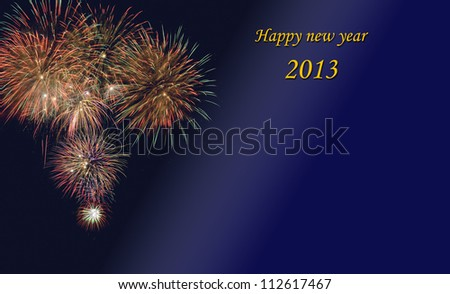 Christmas and new year 2013 - stock photo