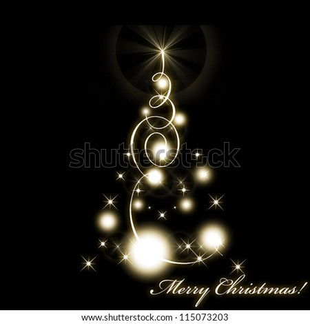 Christmas and New Year card - stock photo