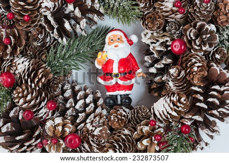 Christmas and New Year decoration. Selective focus. Creative background - stock photo