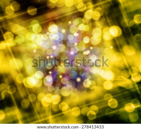 Christmas and New Year feast bokeh background with copyspace - stock photo