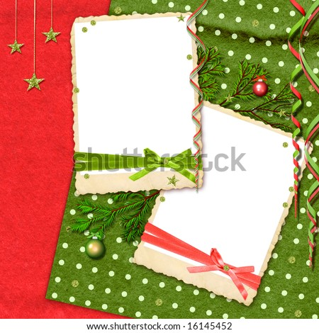 christmas and new year modern scrapbook layout - stock photo