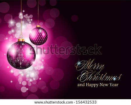 Christmas and new year Themed frame with a lot of falling snow balls. - stock photo