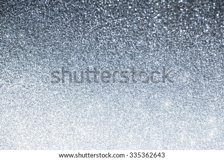Christmas and New Year winter abstract silver and white background with copy space - stock photo
