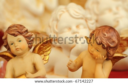 christmas angel figurine - stock photo