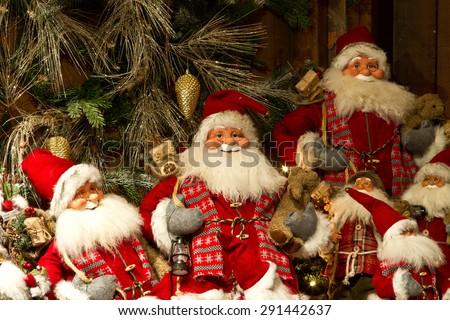 Christmas at the Tivoli in Copenhagen at night - stock photo