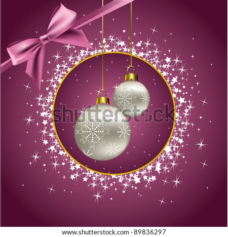 Christmas Background. Abstract Illustration. - stock photo