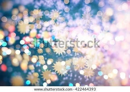 Christmas background. Elegant abstract background with bokeh defocused lights - stock photo