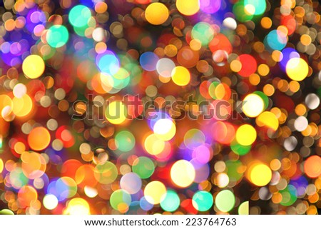 christmas background from the nice color xmas lights - stock photo