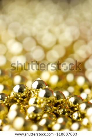 christmas background  gold - stock photo