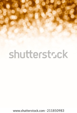 Christmas Background. Holiday Abstract Glitter Defocused Background With Blinking Stars. Blurred Bokeh with empty white space - stock photo