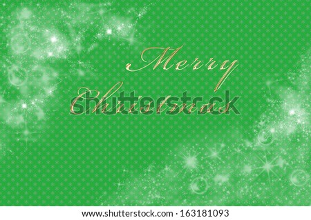 Christmas background in green with merry Christmas written on it - stock photo