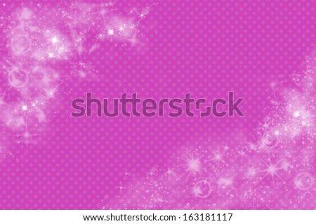 Christmas background in pink - stock photo