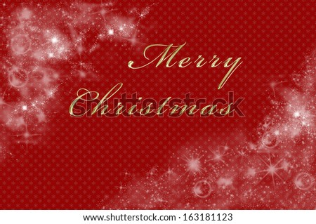 Christmas background in red with merry Christmas written on it - stock photo