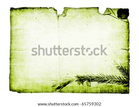 Christmas background in the form of an old card - stock photo