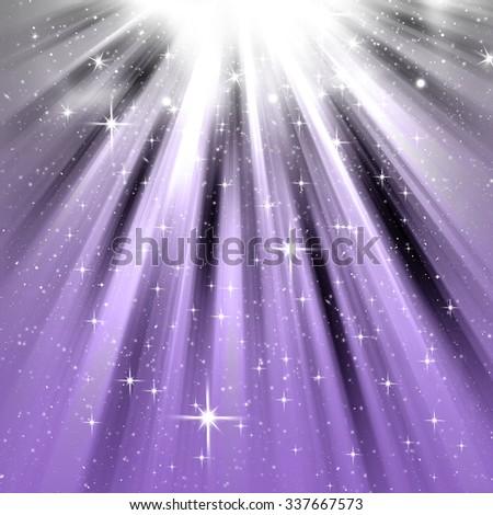 christmas background purple - stock photo