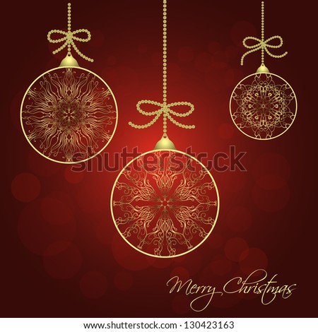 Christmas Background. Raster Version - stock photo