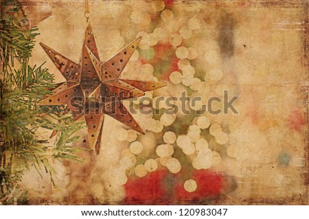 Christmas Background Vintage Style - stock photo