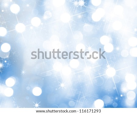 Christmas background with blur lights - stock photo