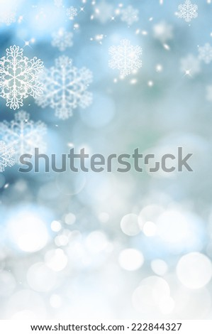 Christmas background with bokeh lights  - stock photo