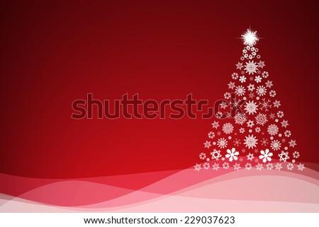 Christmas background with Christmas tree, - stock photo