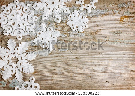 Christmas background with snowflakes/ - stock photo