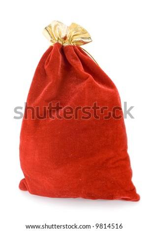 Christmas bag with present - stock photo