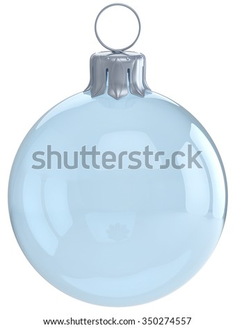 Christmas ball adornment glass empty New Year's Eve ornament translucent bauble clear blank decoration shiny polished. Happy Merry Xmas traditional wintertime celebration symbol. 3d render isolated - stock photo