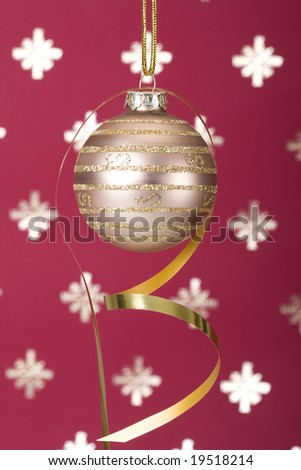Christmas ball background (selective and soft focus) - stock photo