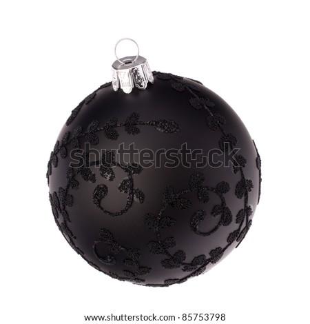 Christmas ball isolated on white background close up - stock photo