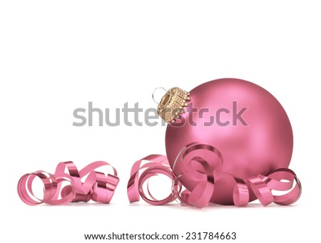 Christmas ball over white background - stock photo