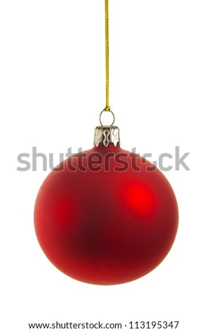 christmas ball with clipping path, vector file available - stock photo