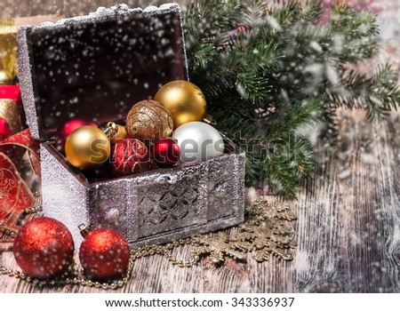 Christmas balls. - stock photo