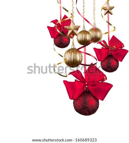 Christmas balls , christmas background. Christmas concept - stock photo