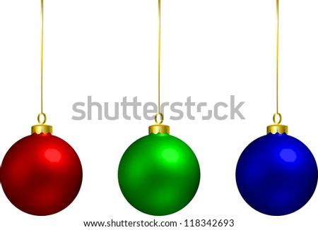 Christmas balls decoration RGB - stock photo