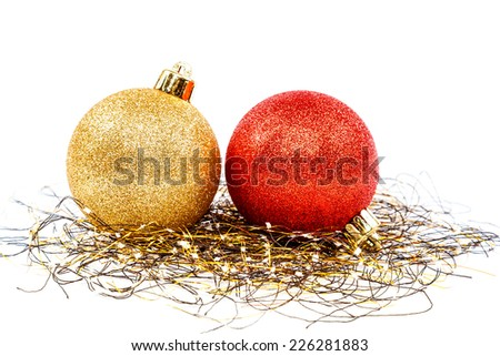 Christmas balls isolated on a white background.  - stock photo