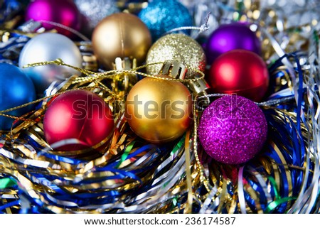 Christmas balls to decorate. New year. - stock photo