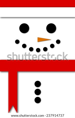 Christmas Banner, Snowman Background - stock photo