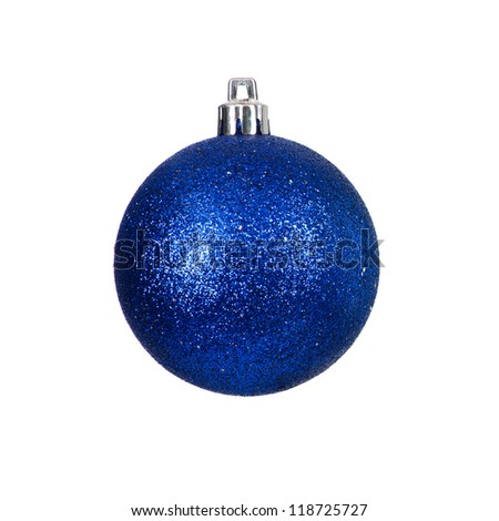 Christmas bauble isolated on white background - stock photo
