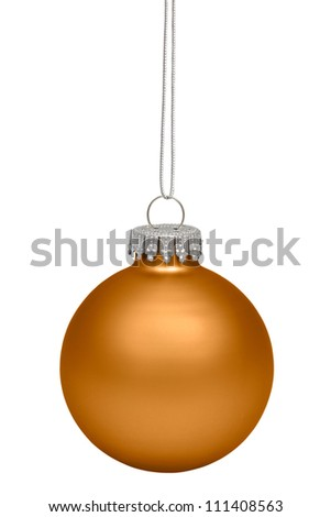 Christmas baubles isolated on white background - stock photo