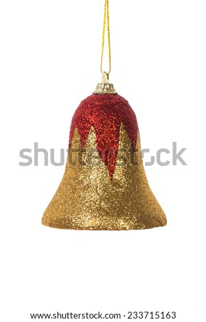 Christmas bell and Christmas decorations - stock photo