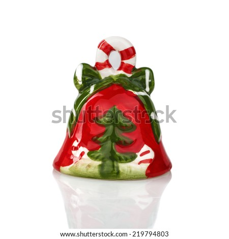 Christmas bell decoration - stock photo
